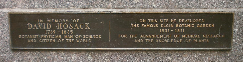 Hosack plaque NYC