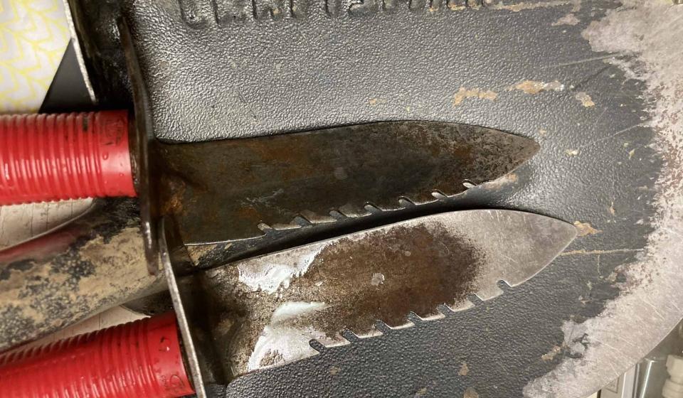 Weeding knives and shovel